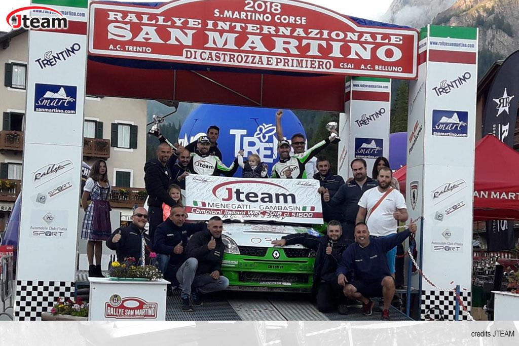 Menegatti regala il bis nel CIWRC a Jteam